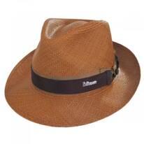 Cassatt Reversible Band Grade 8 Panama Straw Fedora Hat