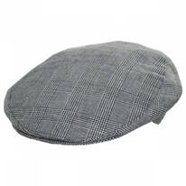 Mel Cotton and Linen Glencheck Ivy Cap