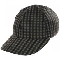 Larry British Millerain Wax Cotton Check Earflap Baseball Cap