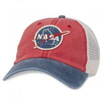 NASA Hanover Trucker Strapback Baseball Cap Dad Hat