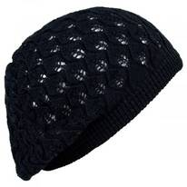 Gabby Cotton Knit Pointelle Beret