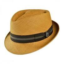 Panama Straw Diamond Crown Fedora Hat