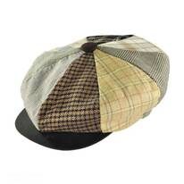 Patchwork Linen Big Apple Cap