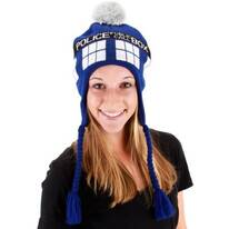 Dr. Who TARDIS Knit Peruvian Beanie Hat