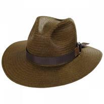 Quade Raindura Straw Fedora Hat