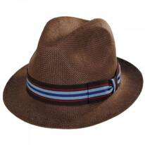 Orleans Brown Toyo Straw Fedora Hat