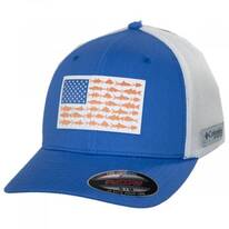 PFG Fish Flag Mesh FlexFit Fitted Baseball Cap