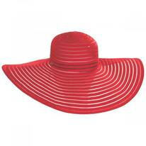 Ribbon and Mesh Swinger Sun Hat