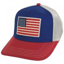 US Flag Mesh Trucker Snapback Baseball Cap