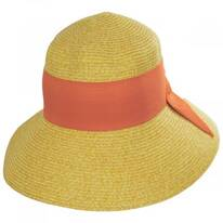 Big Bow Braided Toyo Straw Sun Hat