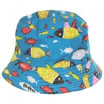 Kid's Fish Reversible Cotton Bucket Hat