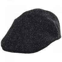 Boris Harris Tweed Wool Ascot Cap - Charcoal
