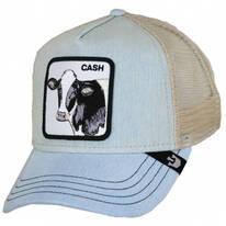 Cash Mesh Trucker Snapback Baseball Cap