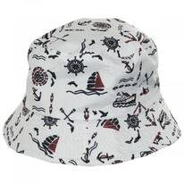 Kids' Nautical Reversible Cotton Bucket Hat