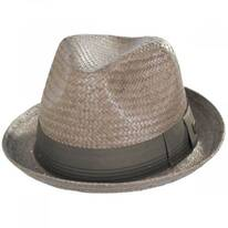 Castor Taupe Toyo Straw Fedora Hat