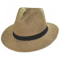 Lera III Cooper Palm Straw Fedora Hat