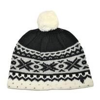 Kids' Cream Knit Beanie Hat