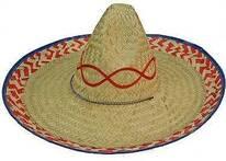 Mexican Palm Straw Sombrero