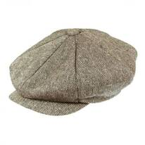 Marl Tweed Wool Blend Big Apple Cap