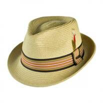 Ridley Toyo Straw Trilby Fedora Hat