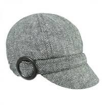 Muffy Herringbone Wool Blend Newsy Cap