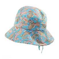 Kids' Paisley Cotton Bucket Hat