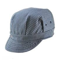 Striped Cotton Engineer Cap