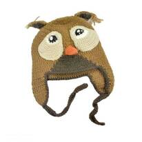 Baby Owl Wool Knit Beanie Hat