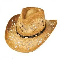 Annie Oakley Raffia Straw Western Hat