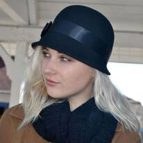 Chloe Wool Felt Cloche Hat