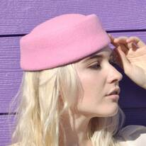 Posey Wool Felt Pillbox Hat