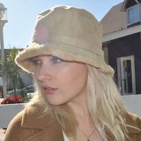 Siberian Faux Suede Bucket Hat