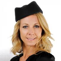 Stewardess Wool Felt Pillbox Hat