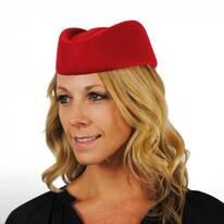 Stewardess Wool Felt Pillbox Hat