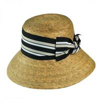 Ella Multi Striped Bow Palm Straw Hat