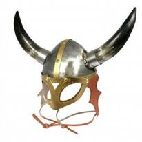 Viking Helmet With Mask and Horns