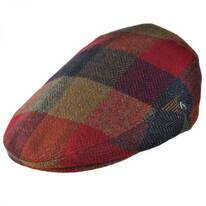 Herringbone Squares Donegal Tweed Wool Ivy Cap