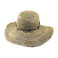 Bohemian Seagrass Straw Floppy Sun Hat