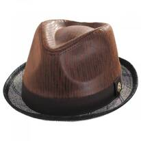 Road Master Faux Leather Fedora Hat