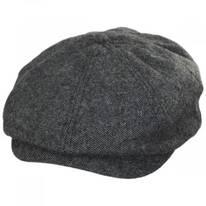 Brood Blue/Gray Tweed Wool Blend Newsboy Cap