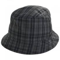 British Millerain Waxed Plaid Cotton Rain Bucket Hat