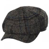 Vintage Shetland Plaid Wool Newsboy Cap