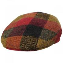 Donegal Squares Herringbone Tweed Wool Ivy Cap