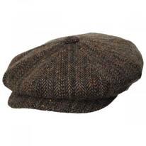 Donegal Remix Herringbone Tweed Wool Newsboy Cap