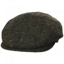 Magee Dark Green Tweed Lambswool Ivy Cap