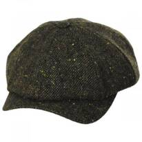 Magee Dark Green Tweed Lambswool Newsboy Cap