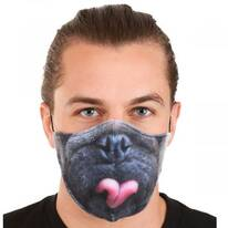 Pug Dye Sublimated Face Cover