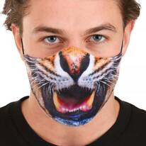 Tiger Dye Sublimated Face Cover