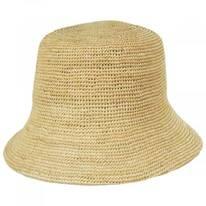 The Inca Crochet Raffia Straw Bucket Hat