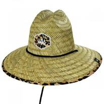 Big Cat Straw Lifeguard Hat